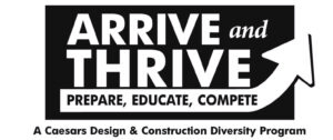 ARRIVE and THRIVE logo w-partners